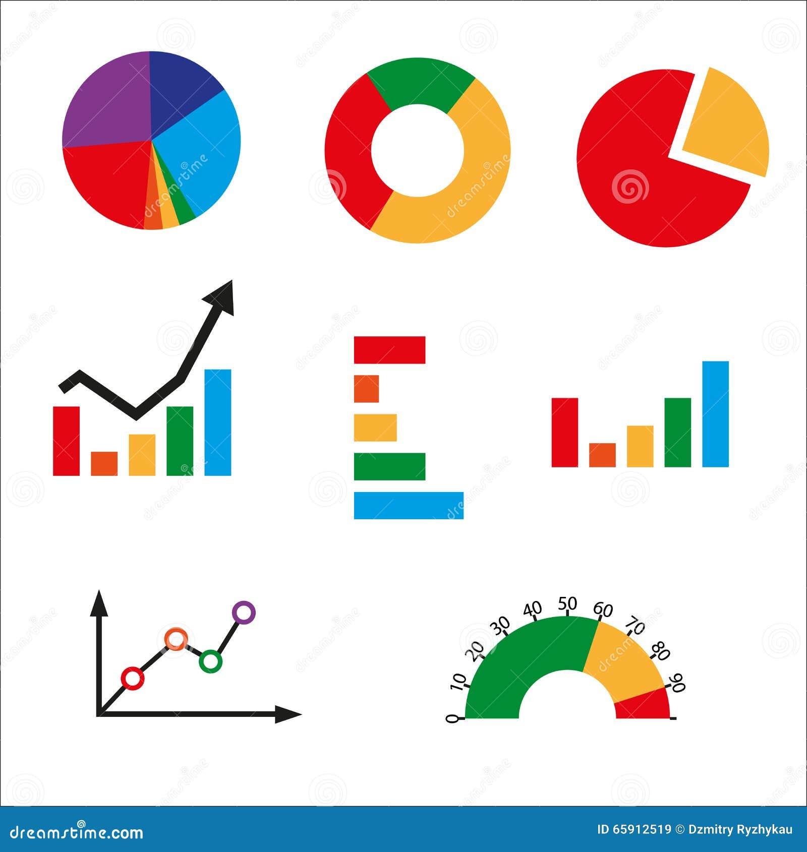 Diagramme Arten Arbeitsblatt : Verschiedene arten von geschäftsdiagrammen stock abbildung