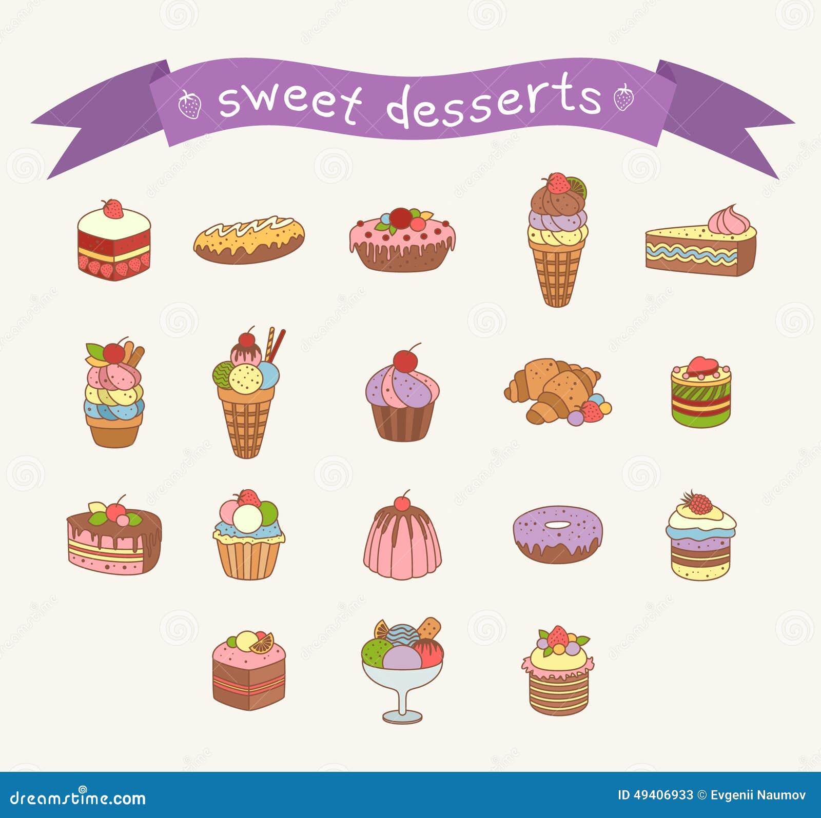Download Verschiedene Bonbonikonen Eingestellt Vektor Abbildung - Illustration von bäckerei, schokolade: 49406933