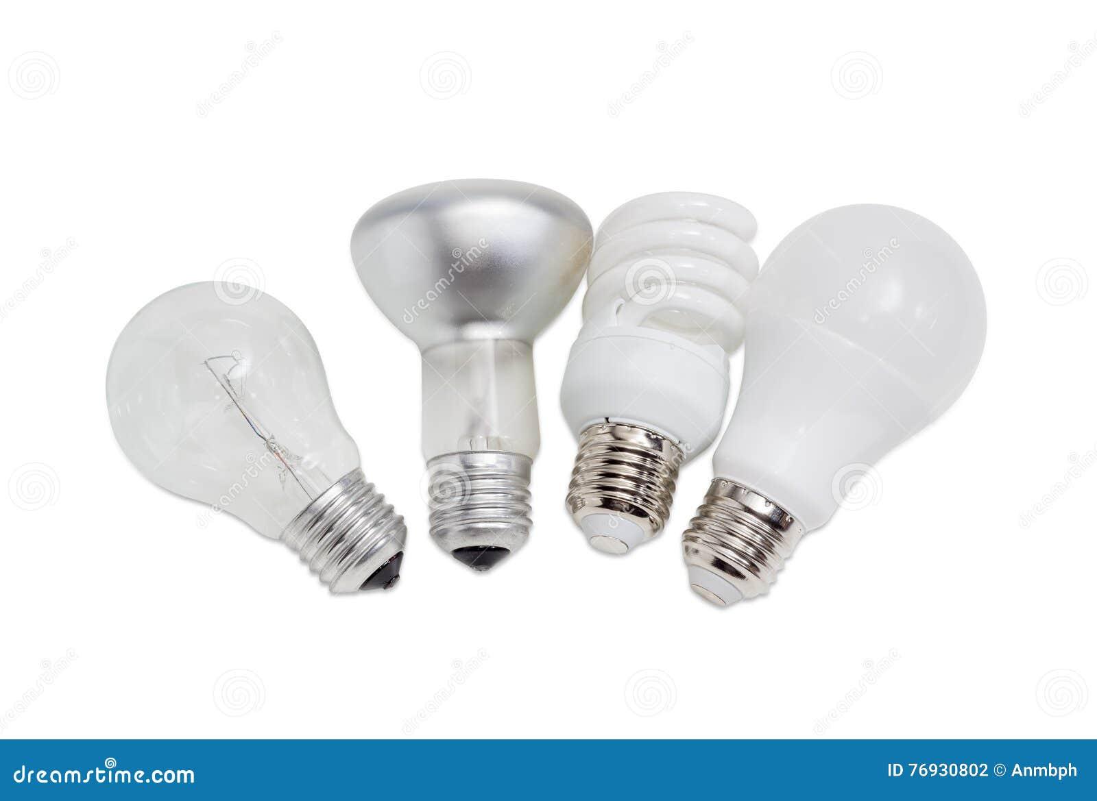 Verschiedene Elektrische Lampen Von Verschiedenen Arten Der ...