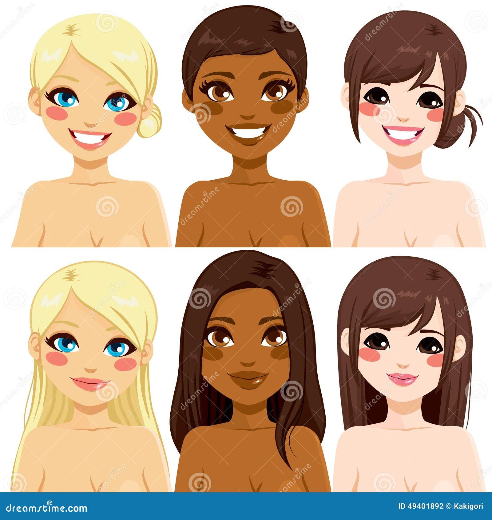 Download Verschiedene Ethnische Frauen Vektor Abbildung - Illustration von abbildung, ethnicity: 49401892