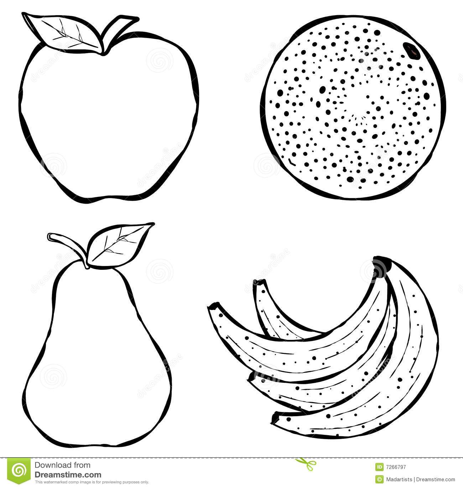 Verschiedene Frucht-Zeile Kunst
