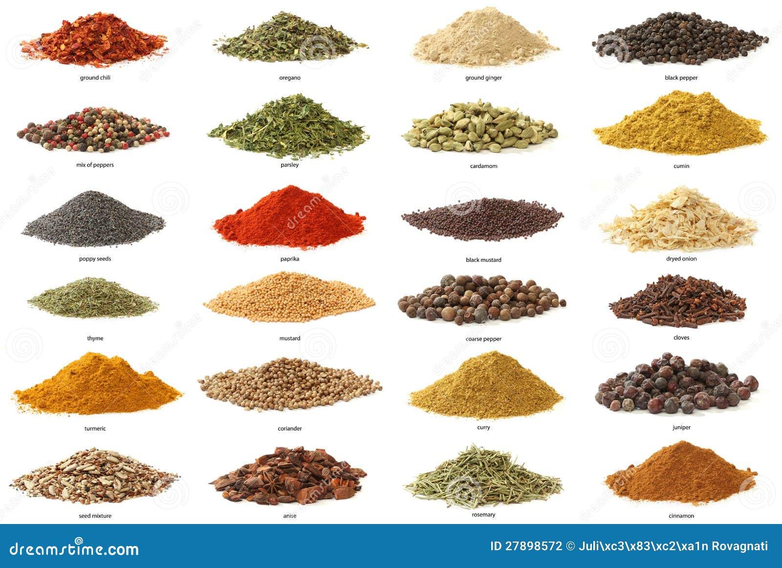 Different herbs royalty free stock image image 16265346 - Verschiedene Gew Rze Getrennt Auf Wei Em Hintergrund Stockfotografie
