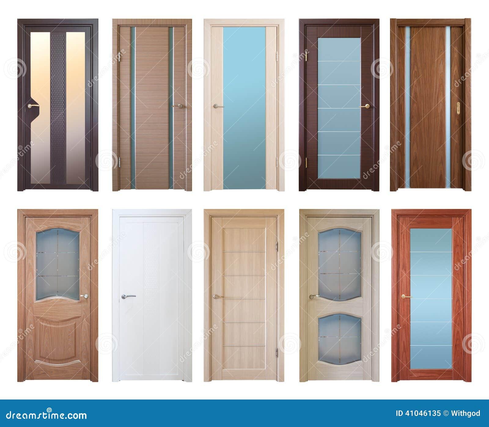 Holztüren weiß  Verschiedene Holztüren, Lokalisiert über Weiß Stockfoto - Bild ...