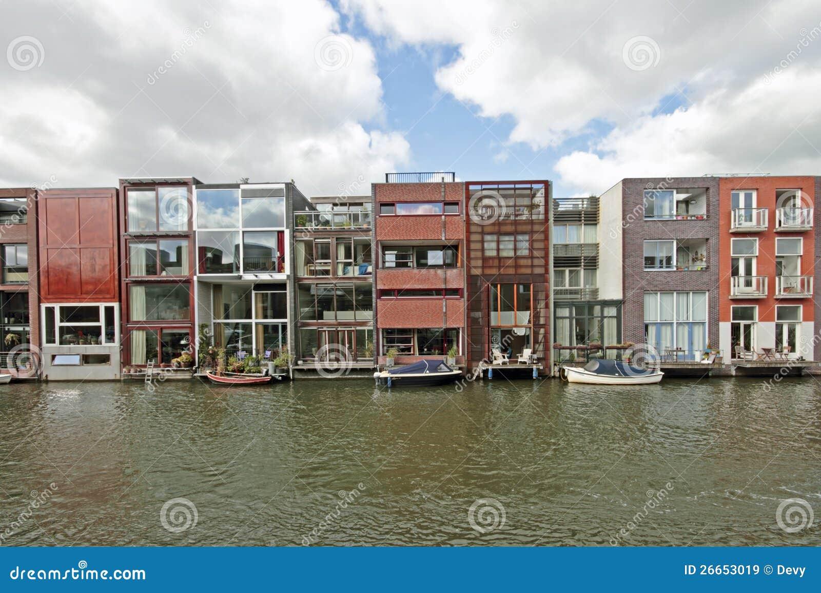 Amsterdam Moderne Häuser