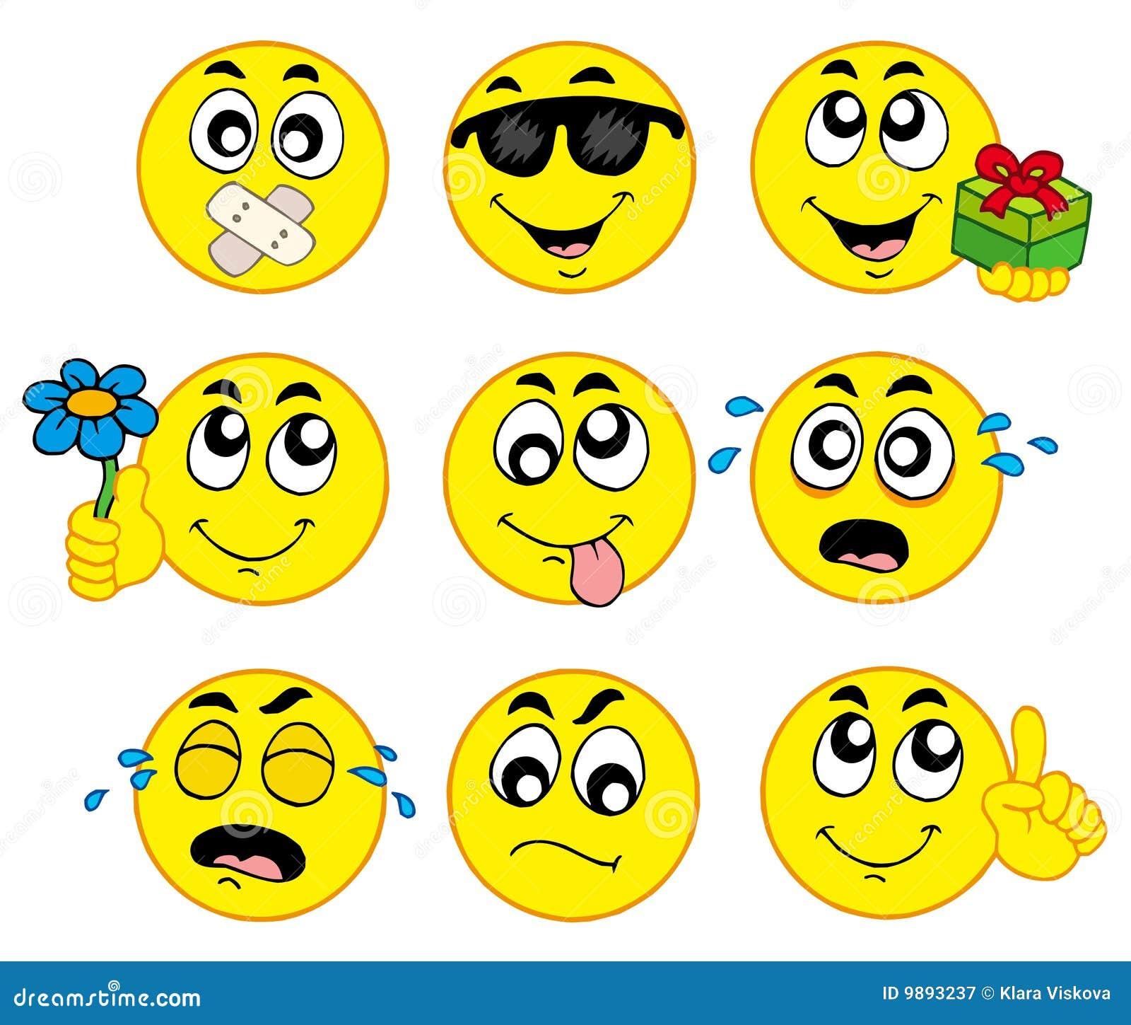 Verschiedene smiley 2 vektor abbildung. Illustration von