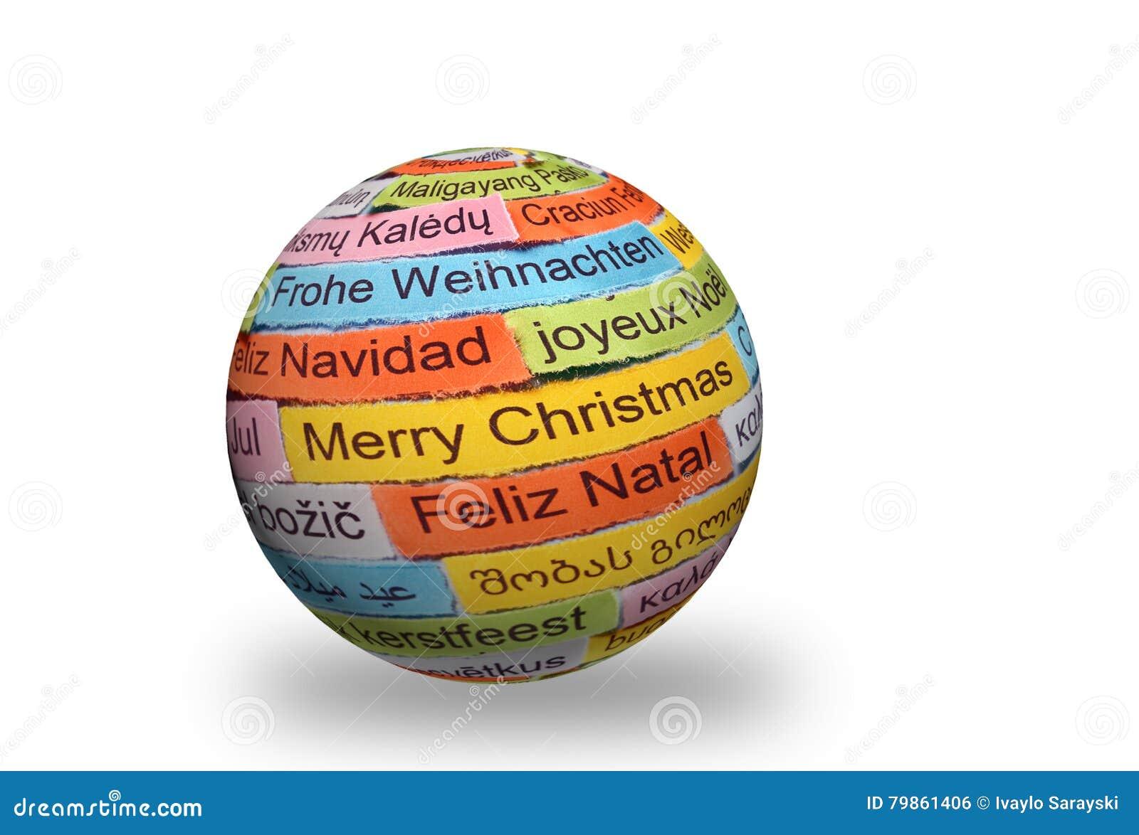 Verschiedene Sprachen Der Frohen Weihnachten Auf Bereich 3d ...