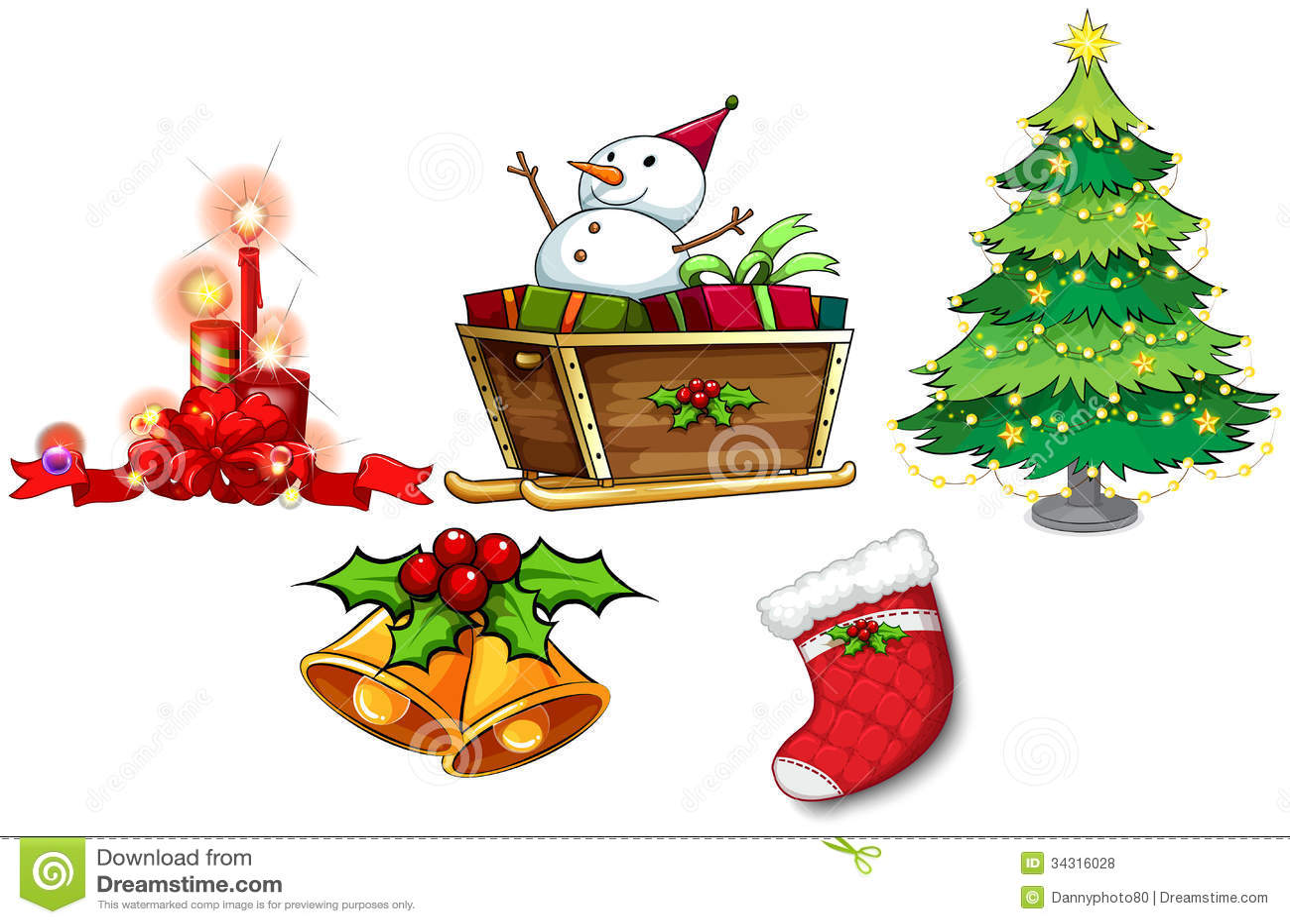 verschiedene symbole von weihnachten stock abbildung illustration von weihnachten froh 34316028. Black Bedroom Furniture Sets. Home Design Ideas