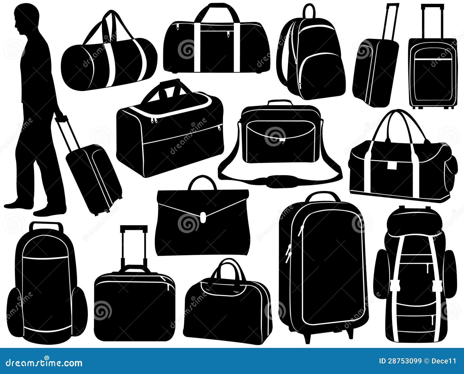 e1349df2352b5 Verschiedene Taschen Eingestellt Vektor Abbildung - Illustration von ...
