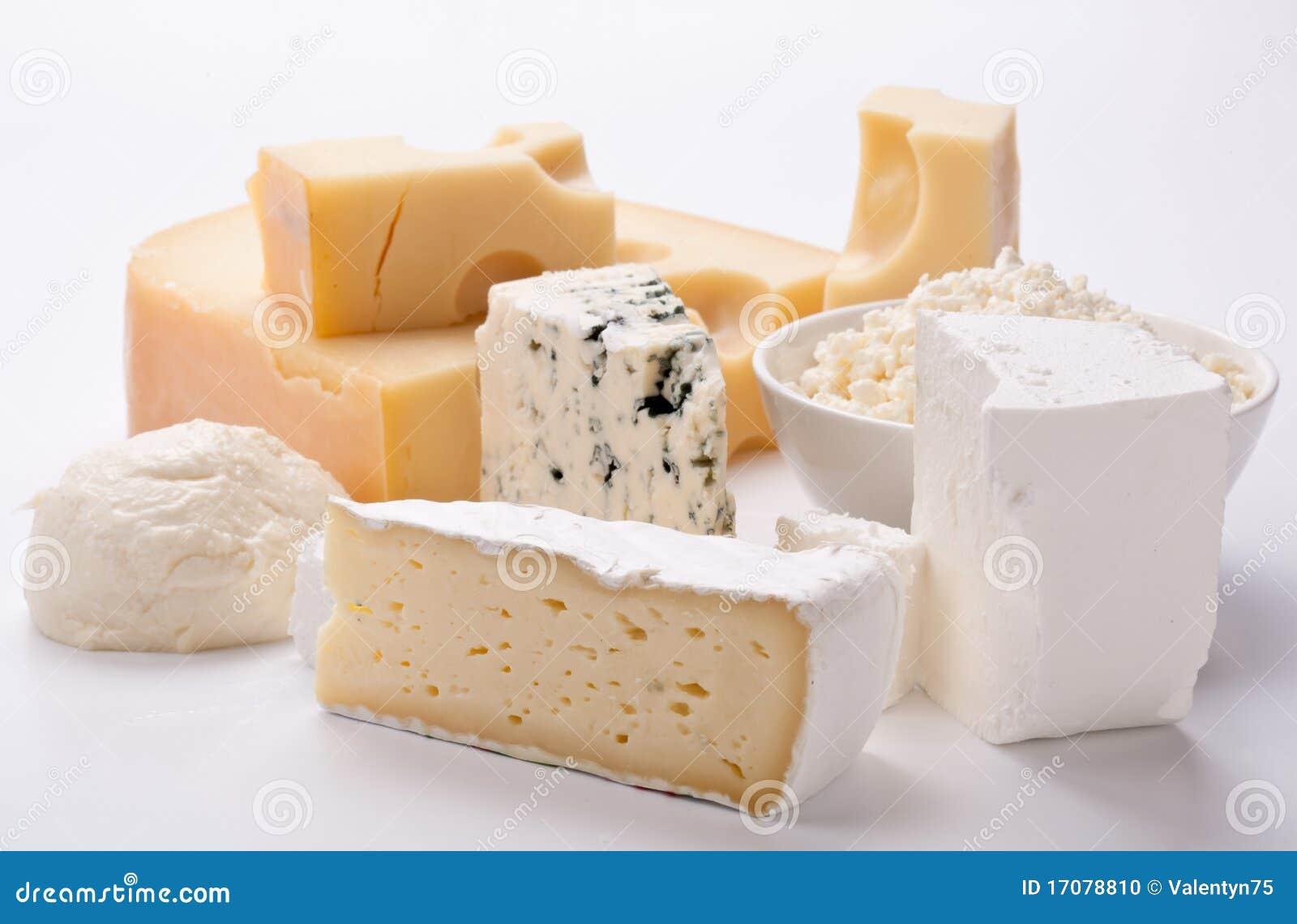 Verschiedene Typen der Käse.