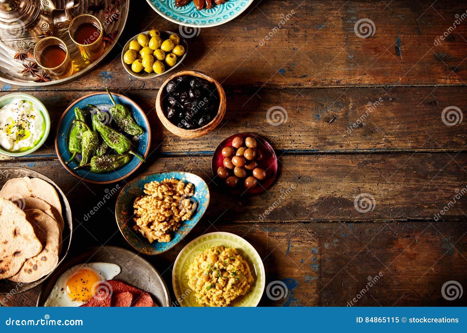 Verschiedenes arabisches Frühstück