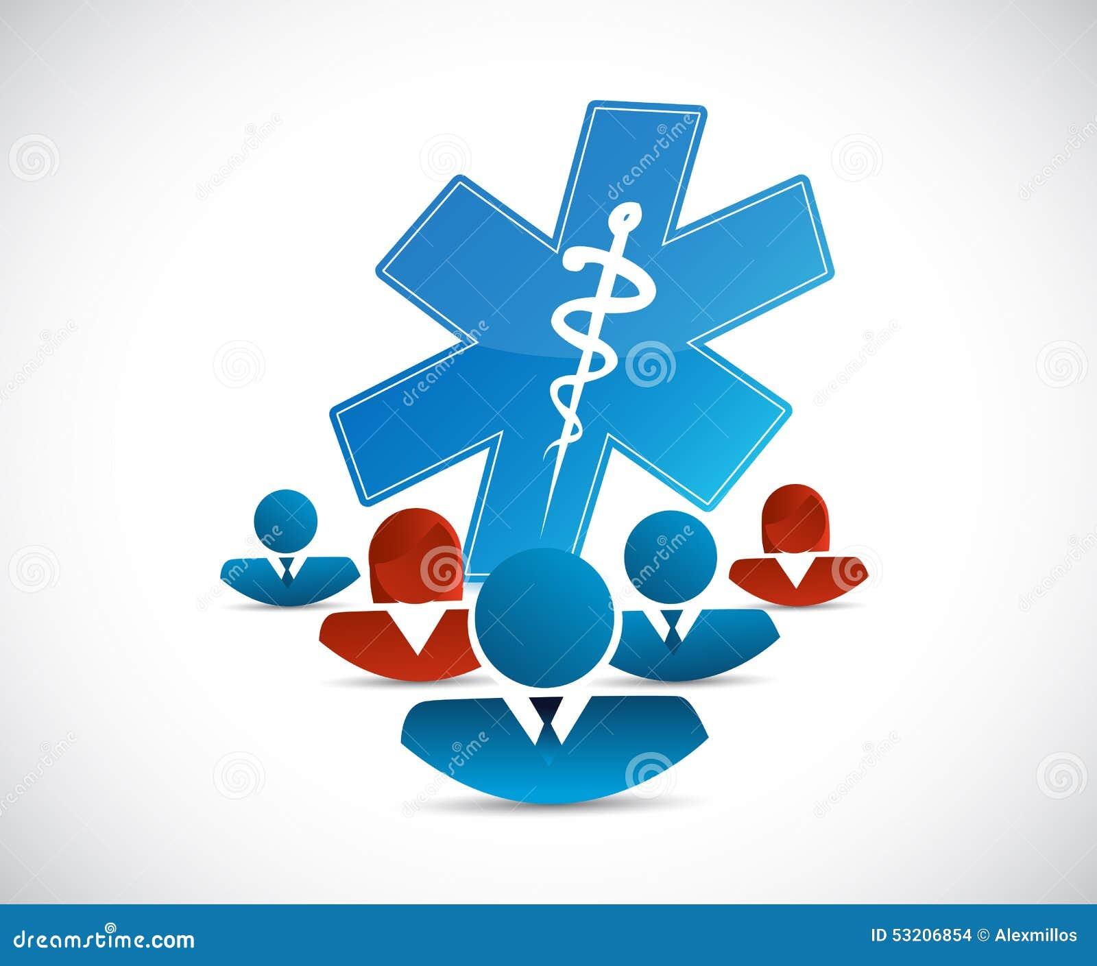 Verschiedenes Netz und medizinisches Konzept
