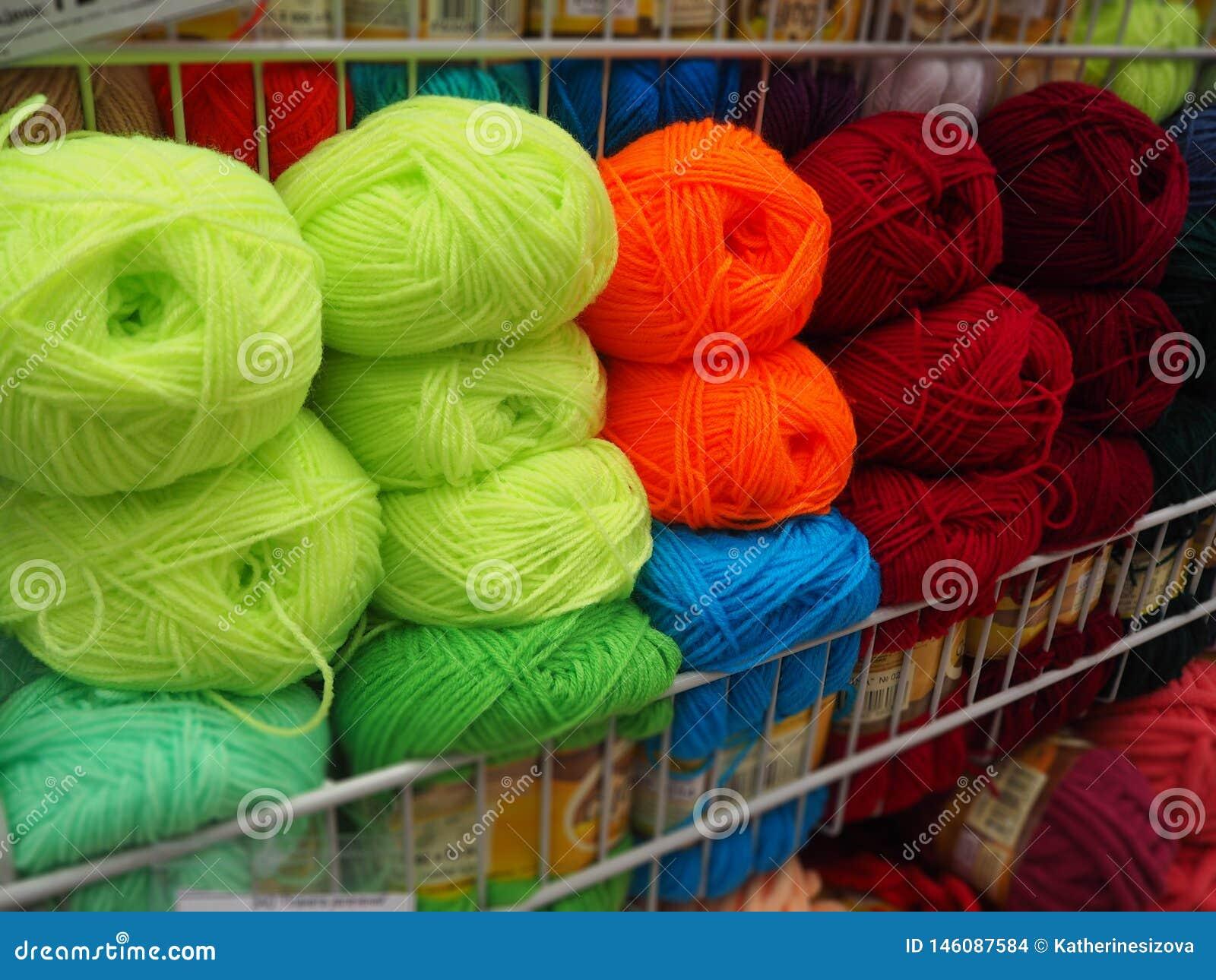 Verschillend kleurengaren, multicolored draden