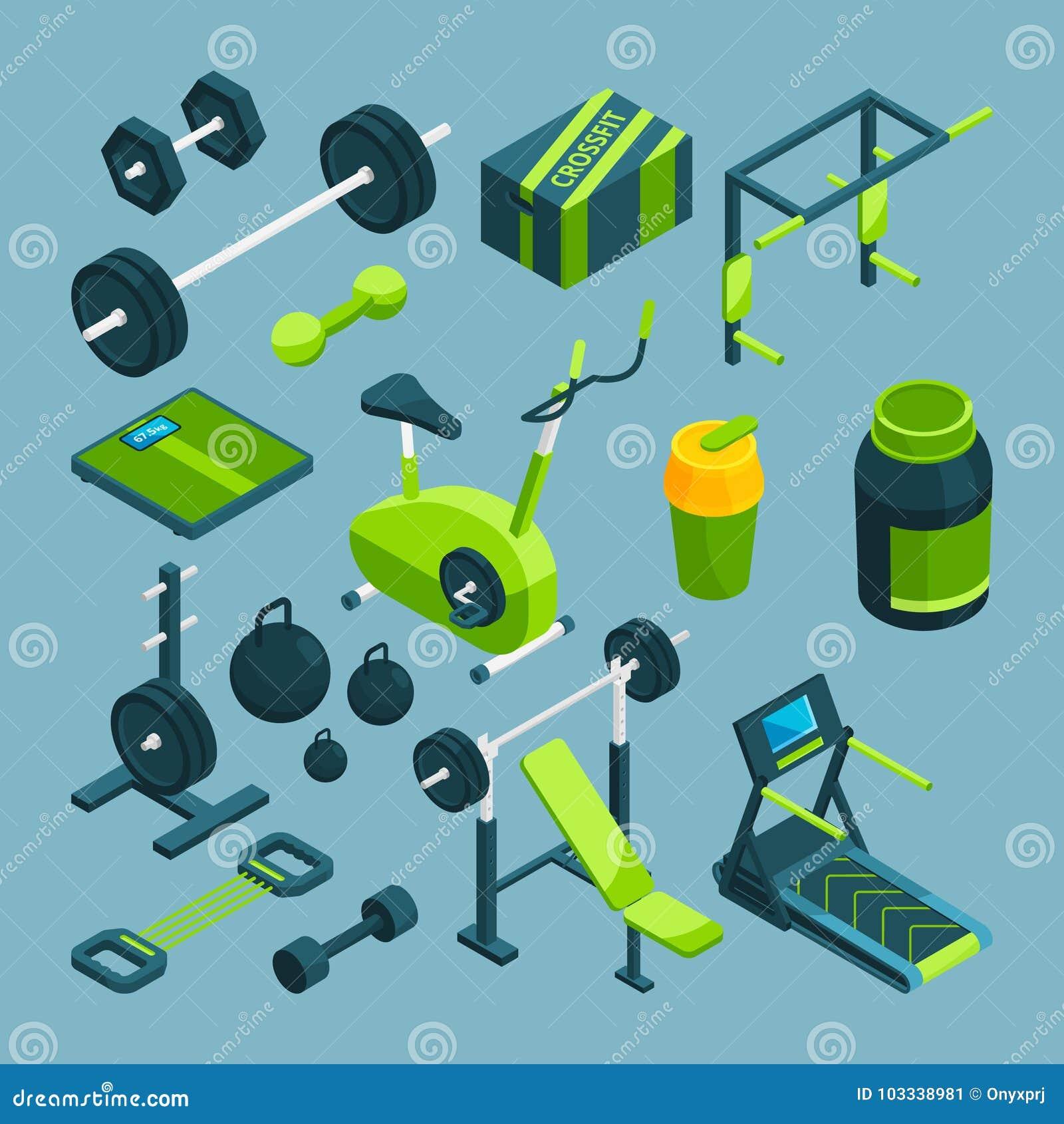 Verschillend materiaal om bodybuilding en powerlifting Geschiktheidstoebehoren
