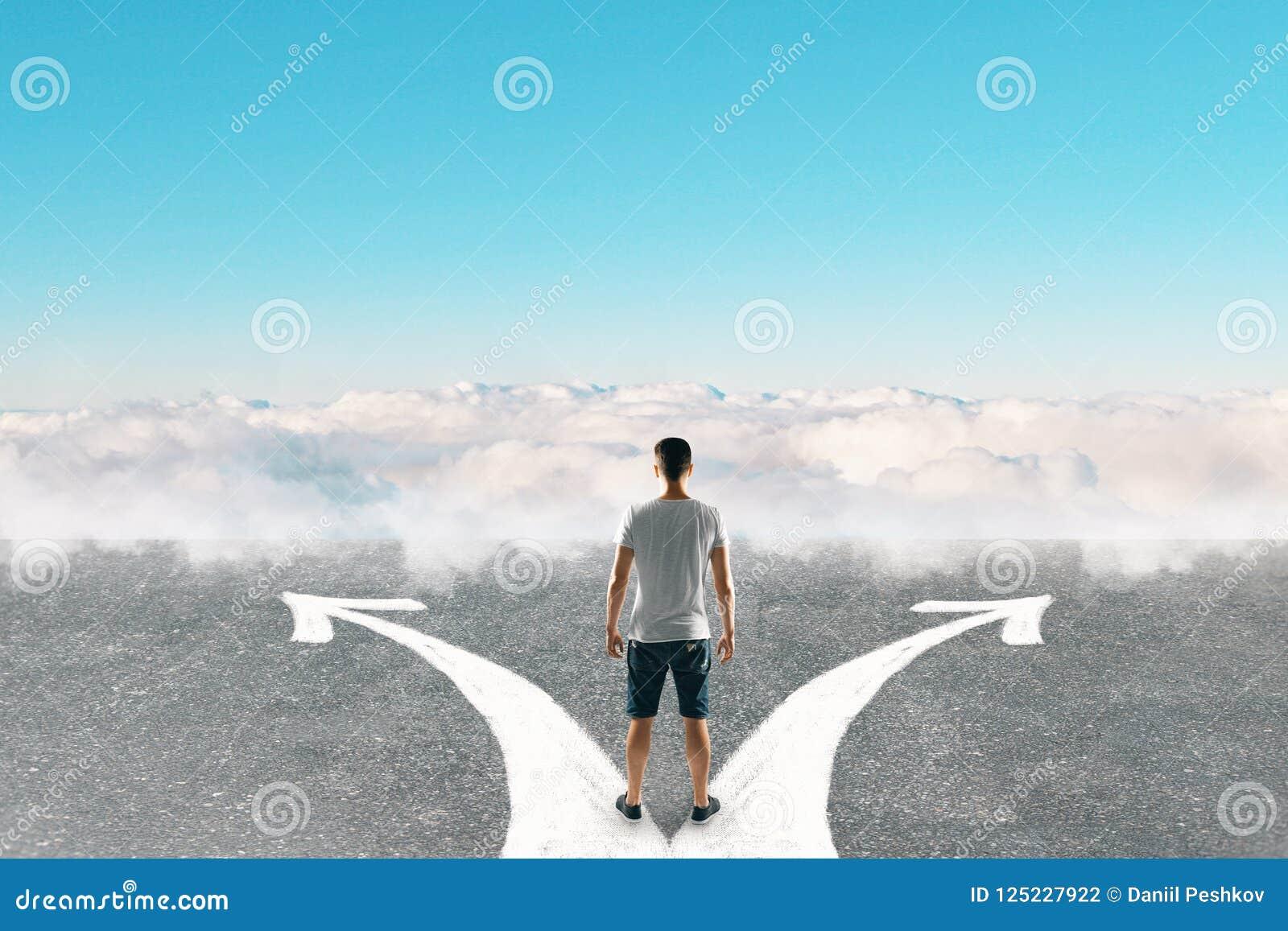 Verschillend richting en manierconcept