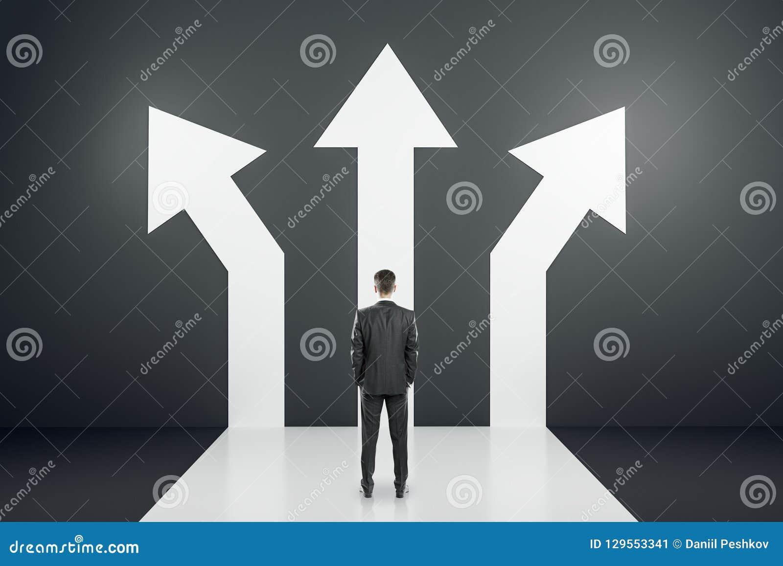 Verschillend richting en succesconcept