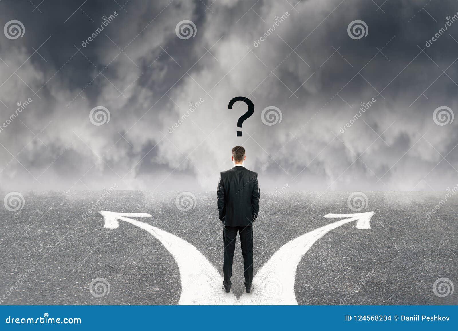 Verschillend richting en verwarringconcept