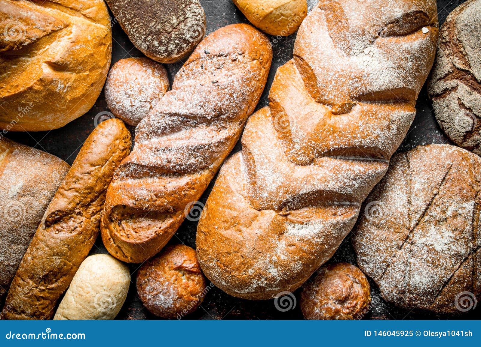 Verschillende types van brood