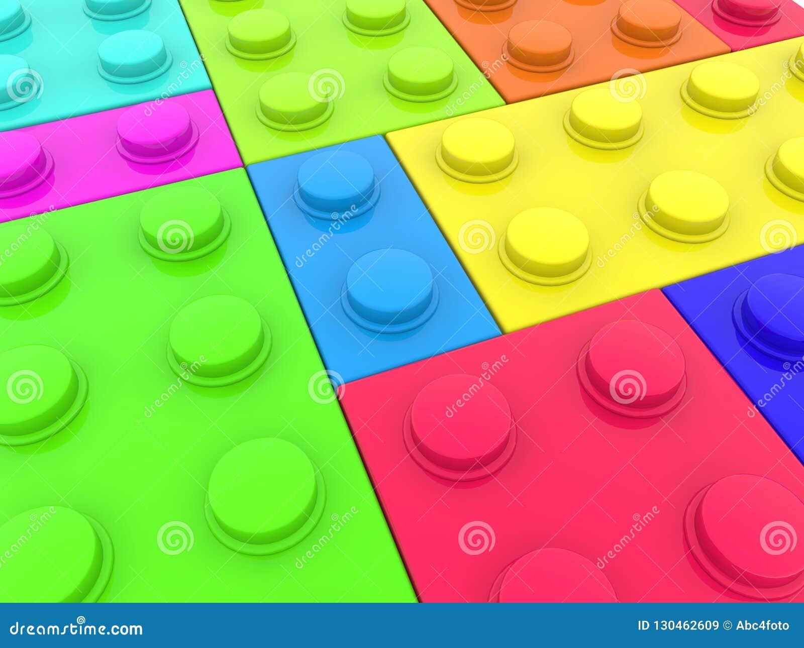 Verschillende types van verfstuk speelgoed bakstenen