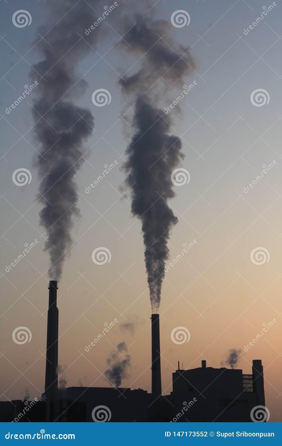 Verschmutzung zur Luft