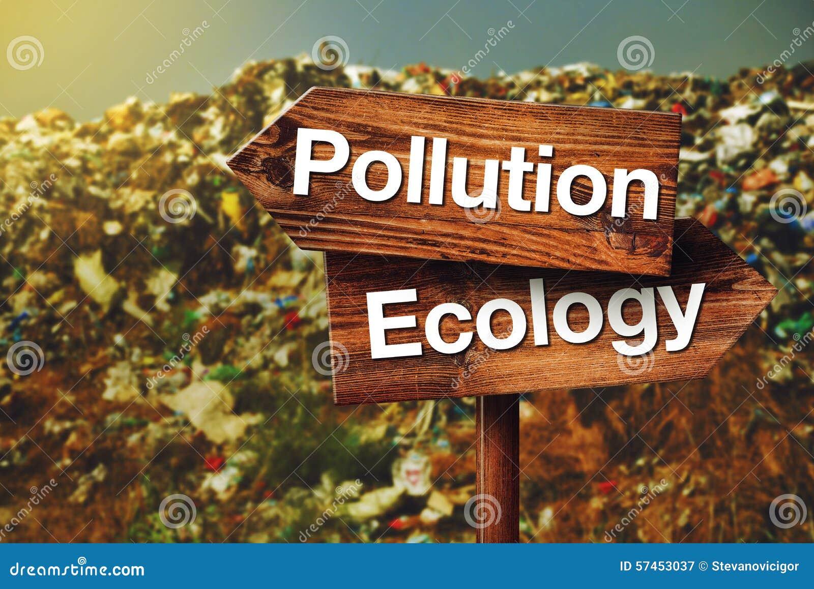 Verschmutzungs-oder Ökologie-Konzept
