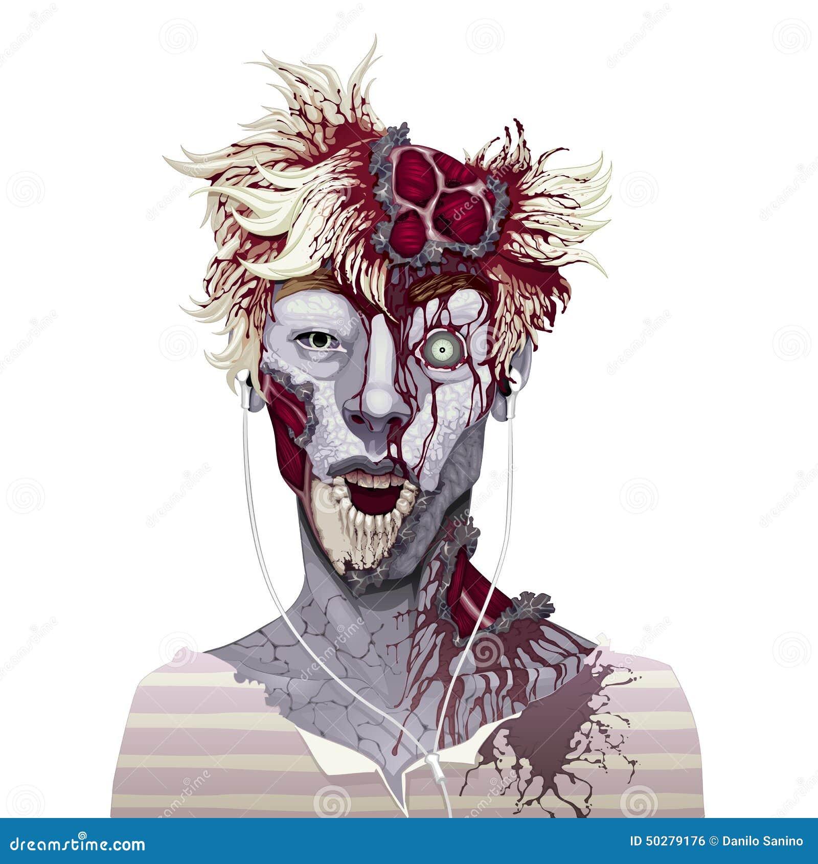 Verschrikking en vectorillustratie