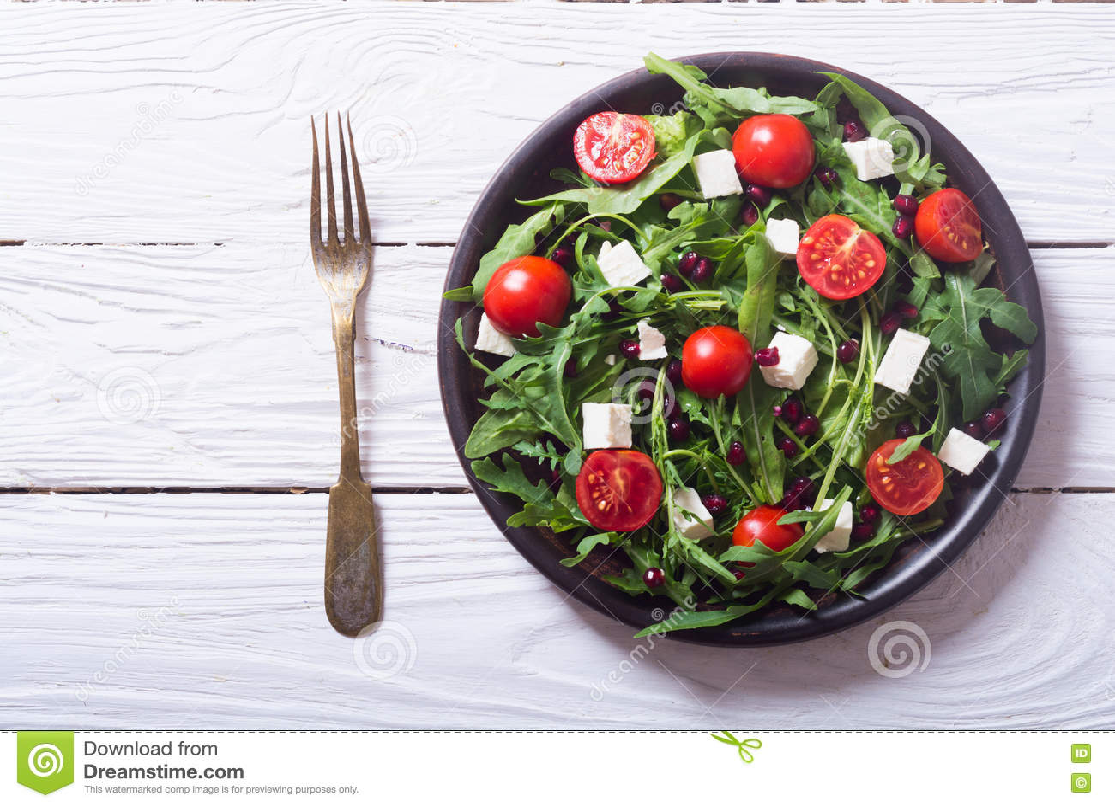 Verse de lentesalade met rucola