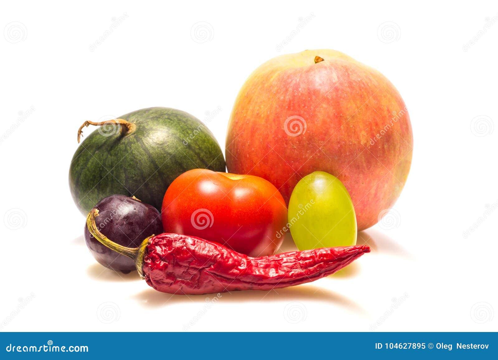 Download Verse En Rijpe Groenten En Vruchten Stock Afbeelding - Afbeelding bestaande uit naughty, gestreept: 104627895