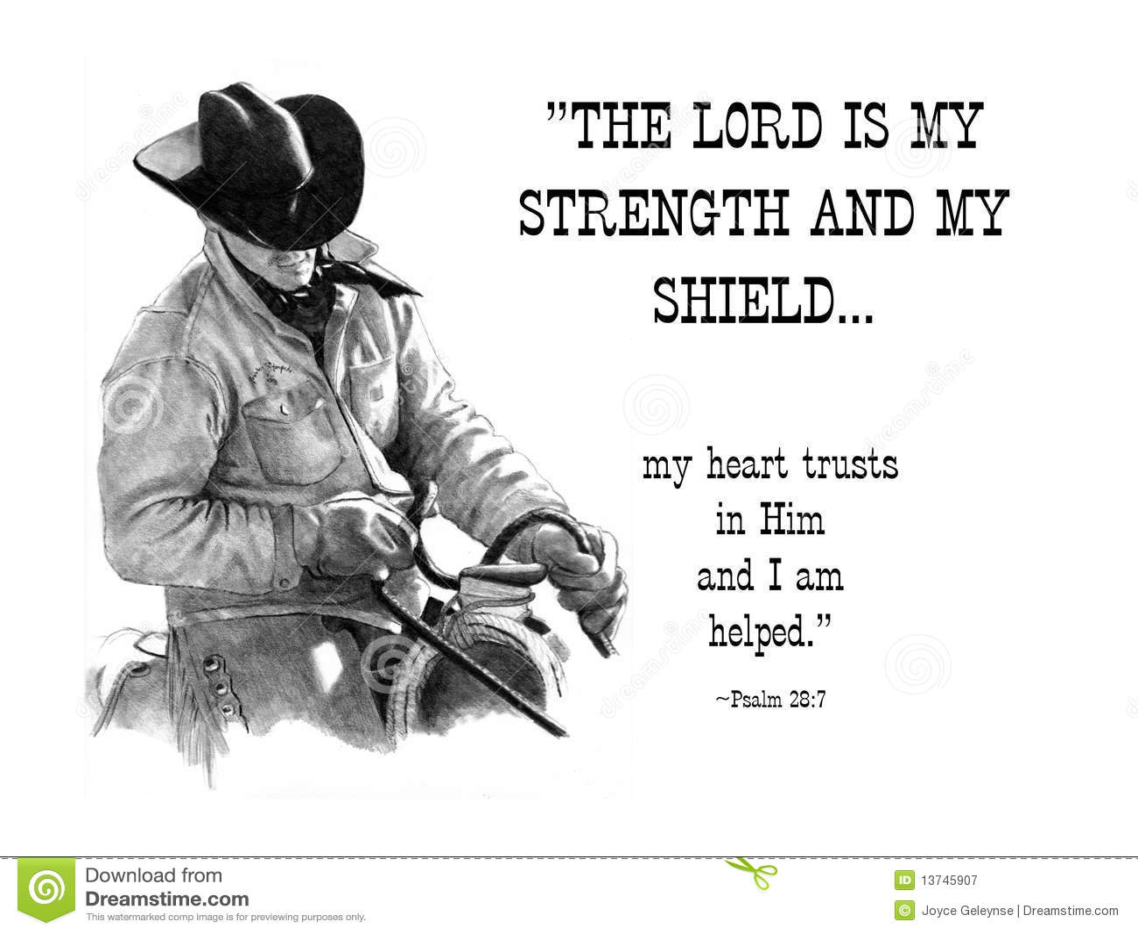 Verse för blyertspenna för bibelcowboyteckning