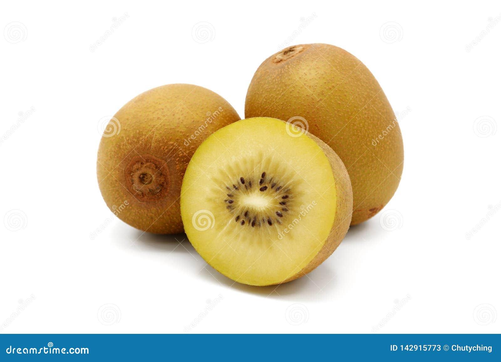 Verse gesneden gouden kiwifruit