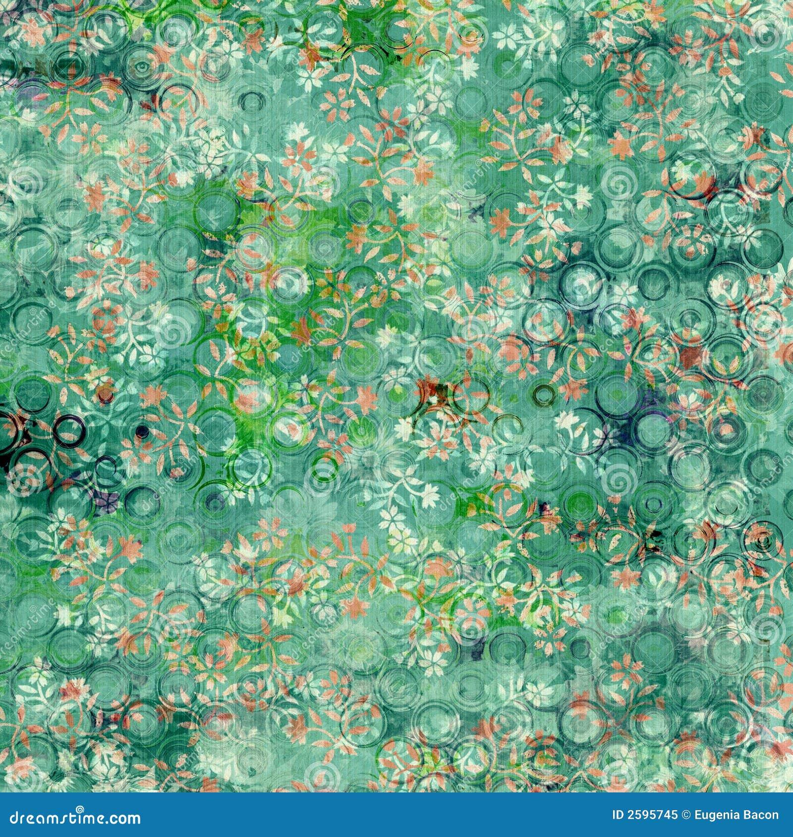 Verse groene bloemenachtergrond