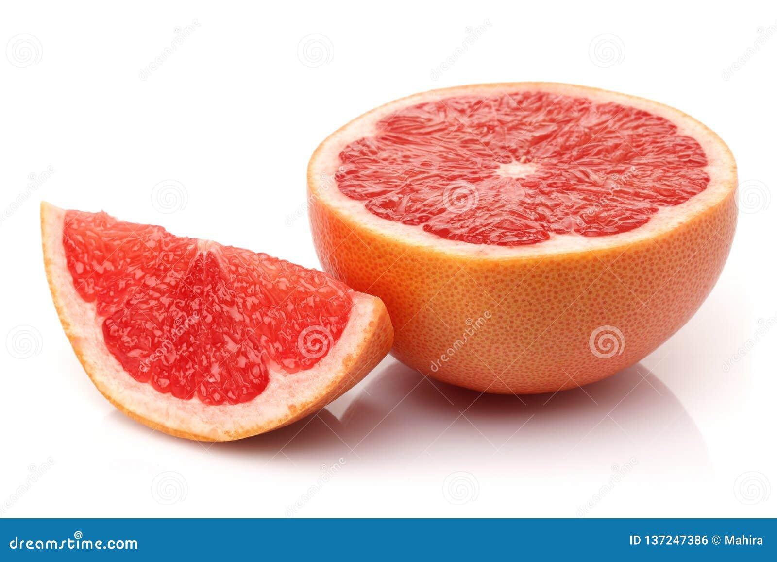Verse halve grapefruit met plak