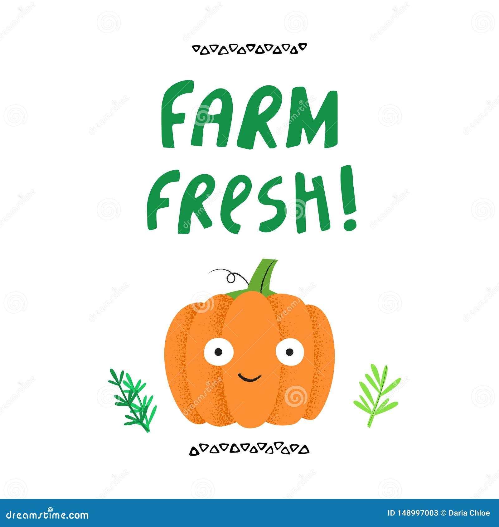 Verse het landbouwbedrijf had vectorillustratie getrokken