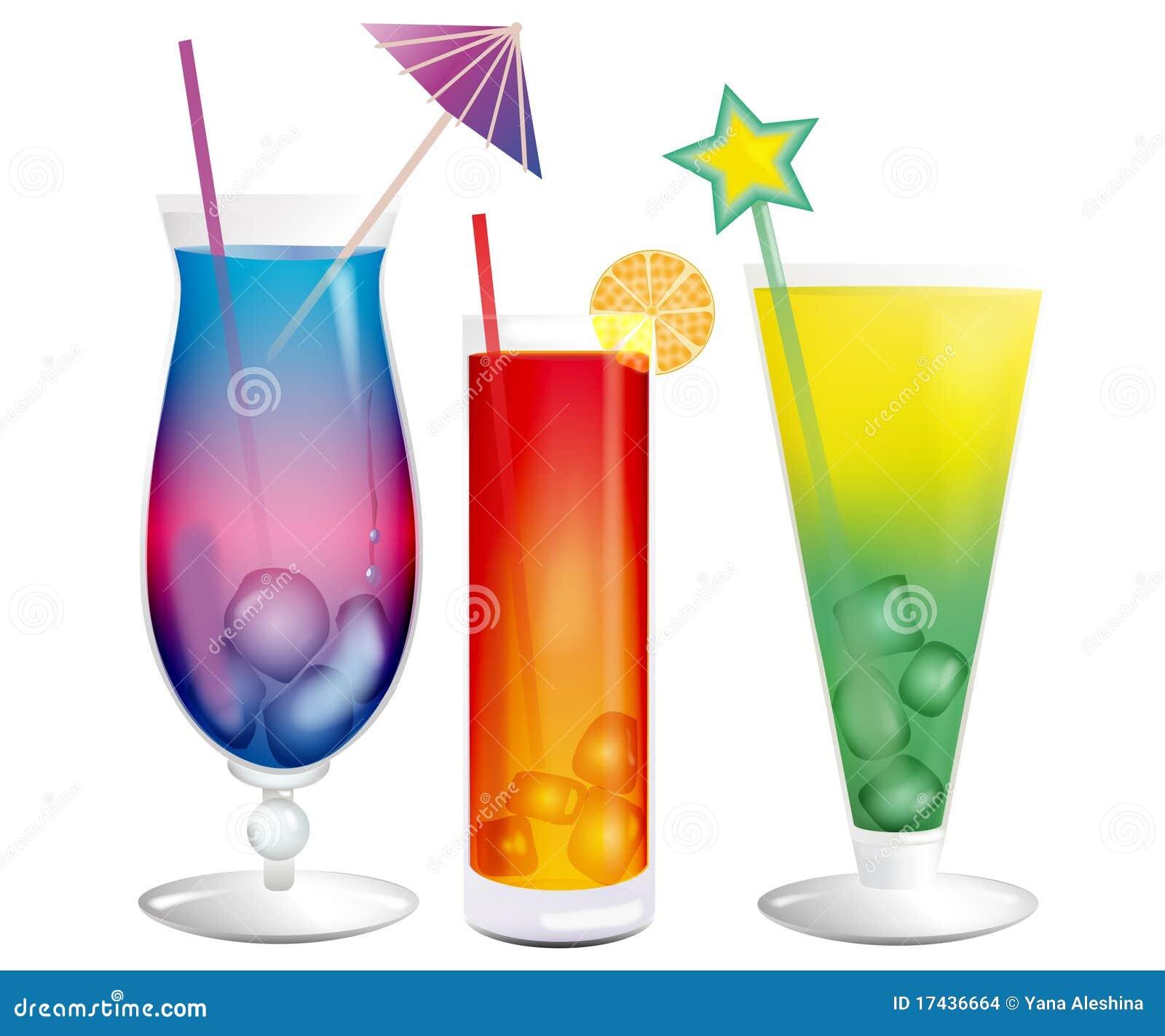 Verse koel exotische cocktails met ijsblokjes stock afbeeldingen afbeelding 17436664 - De scandinavische cocktail ...