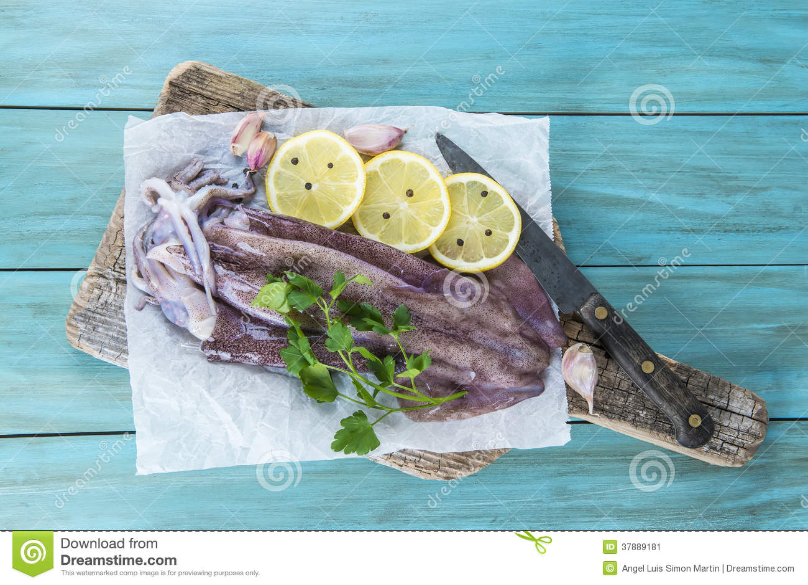 Verse pijlinktvissen