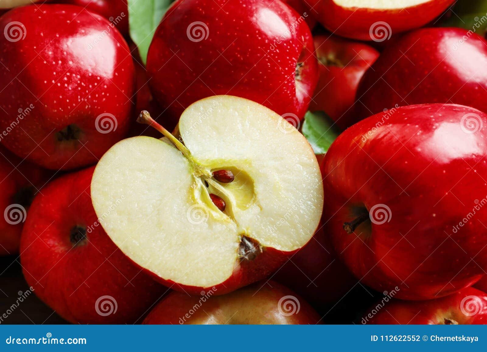 Verse rijpe rode appelen