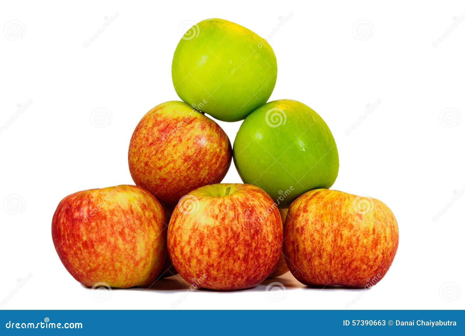 Verse rode en groene appelen