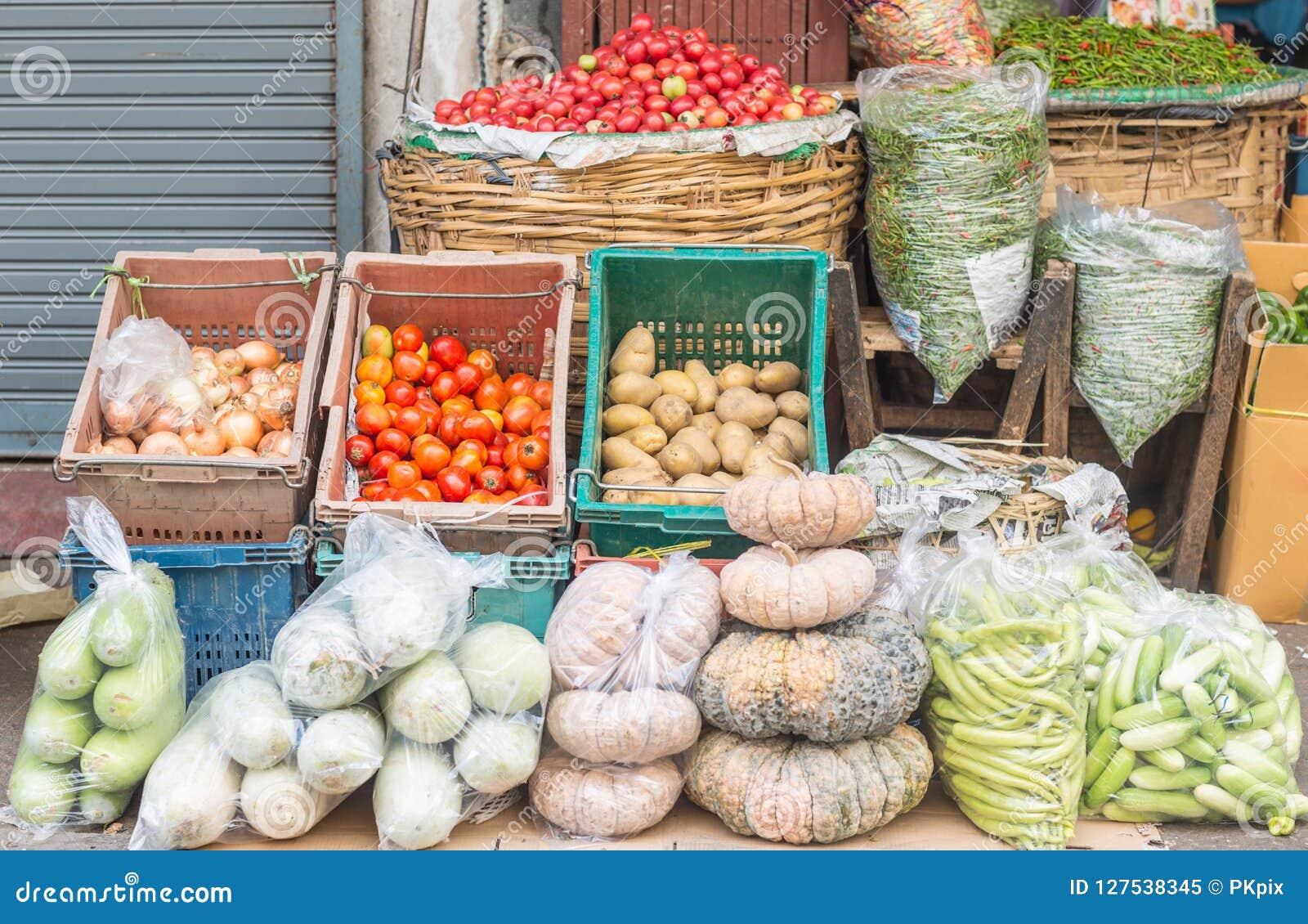 Verse vissen in een Turkse markt