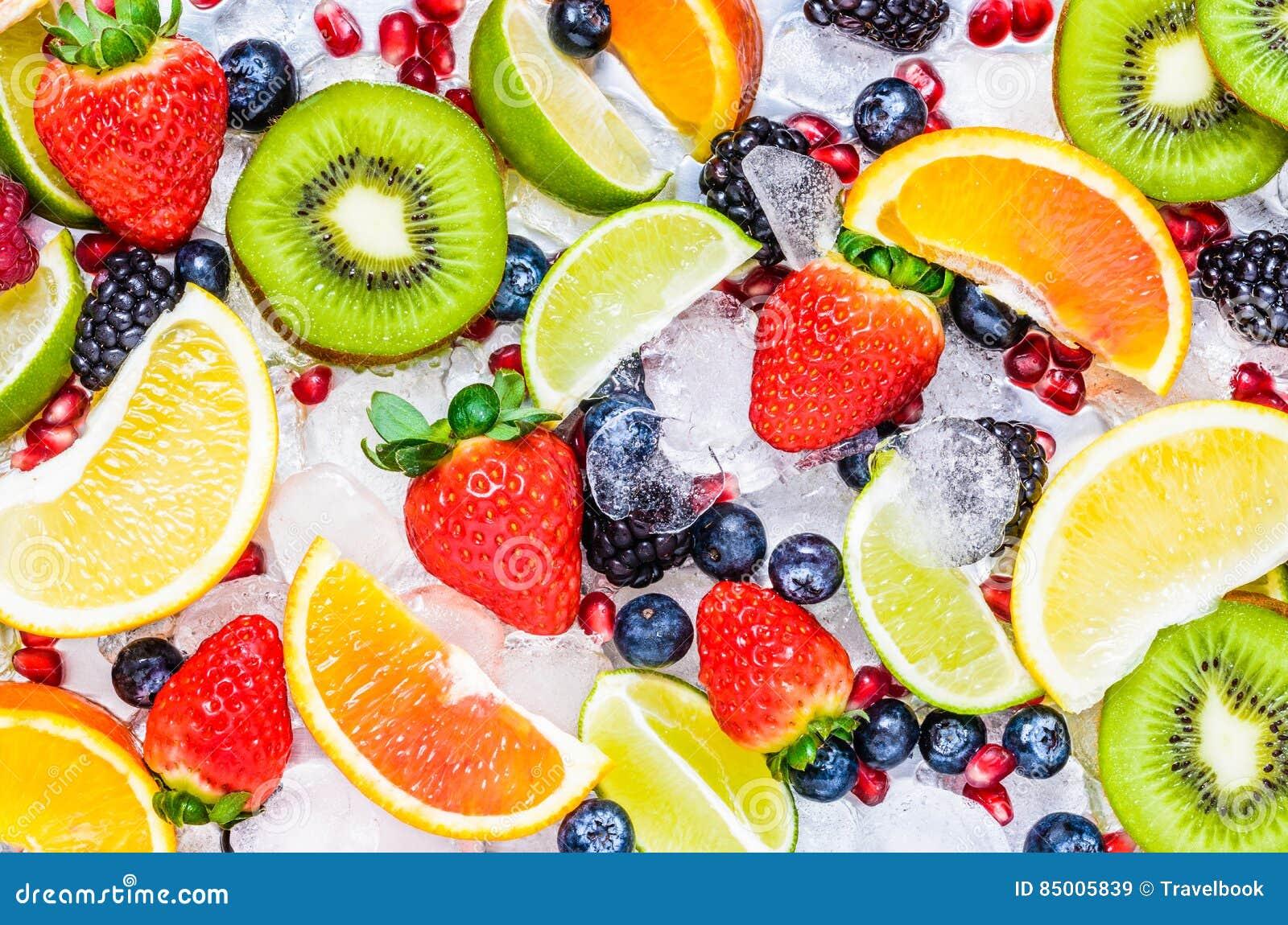 Verse vruchten achtergrond