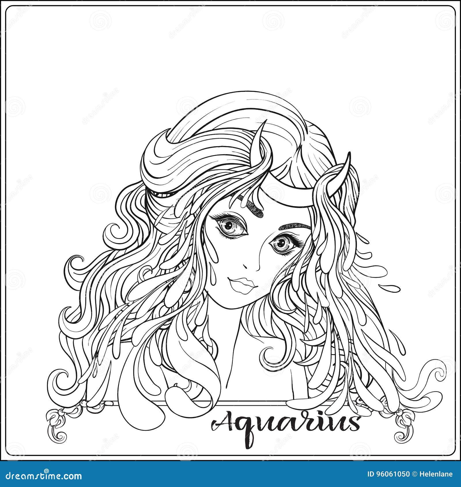Verseau Une jeune belle fille sous forme d un des signes
