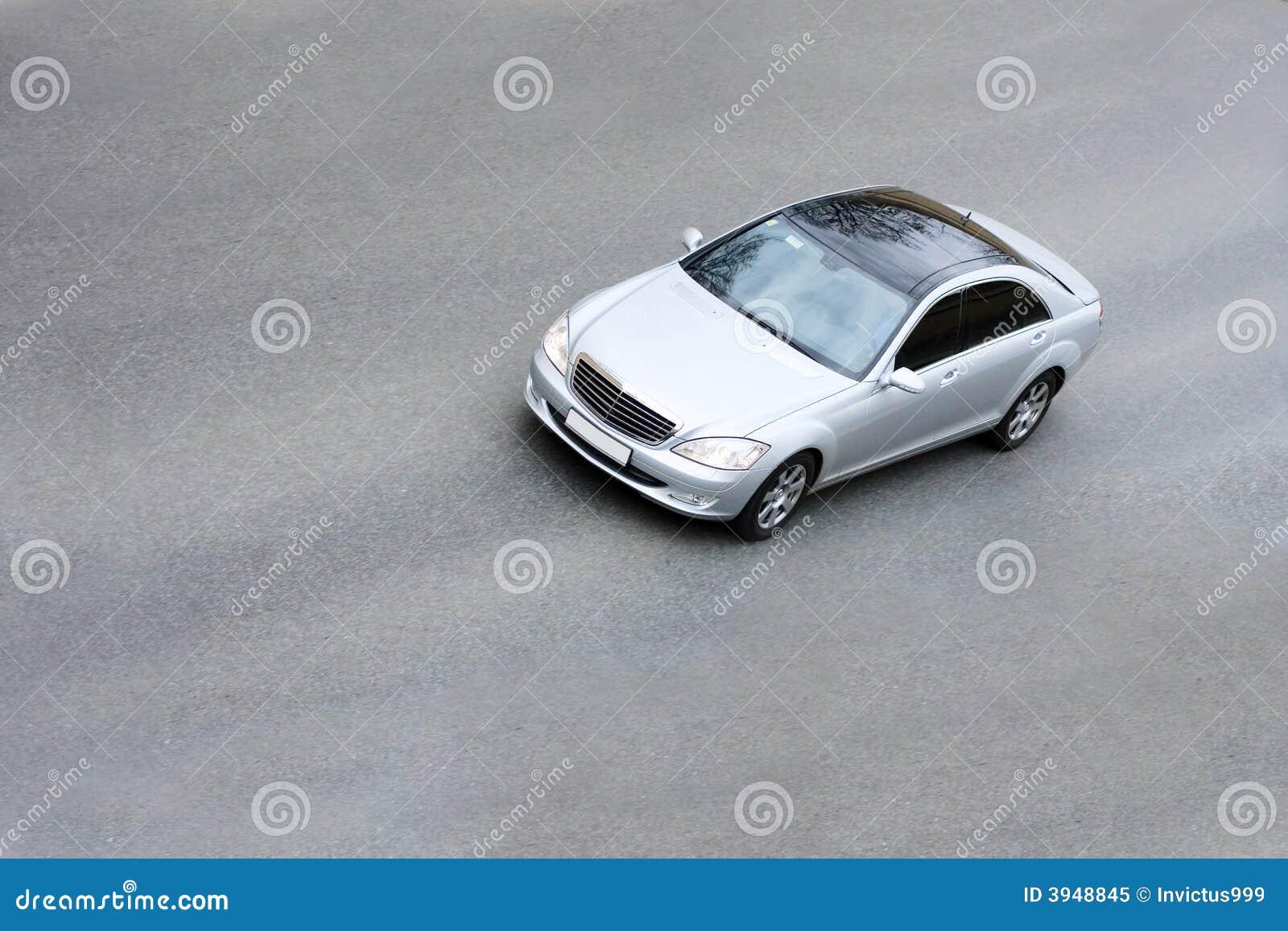 versilbern sie auto stockbild. bild von sedan, daimler - 3948845