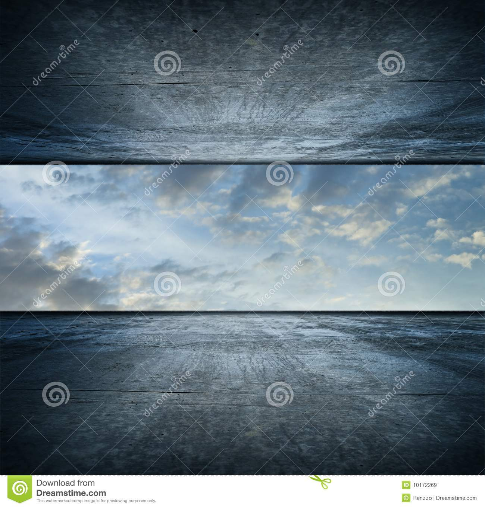 Version de grand dos de ciel de pièce
