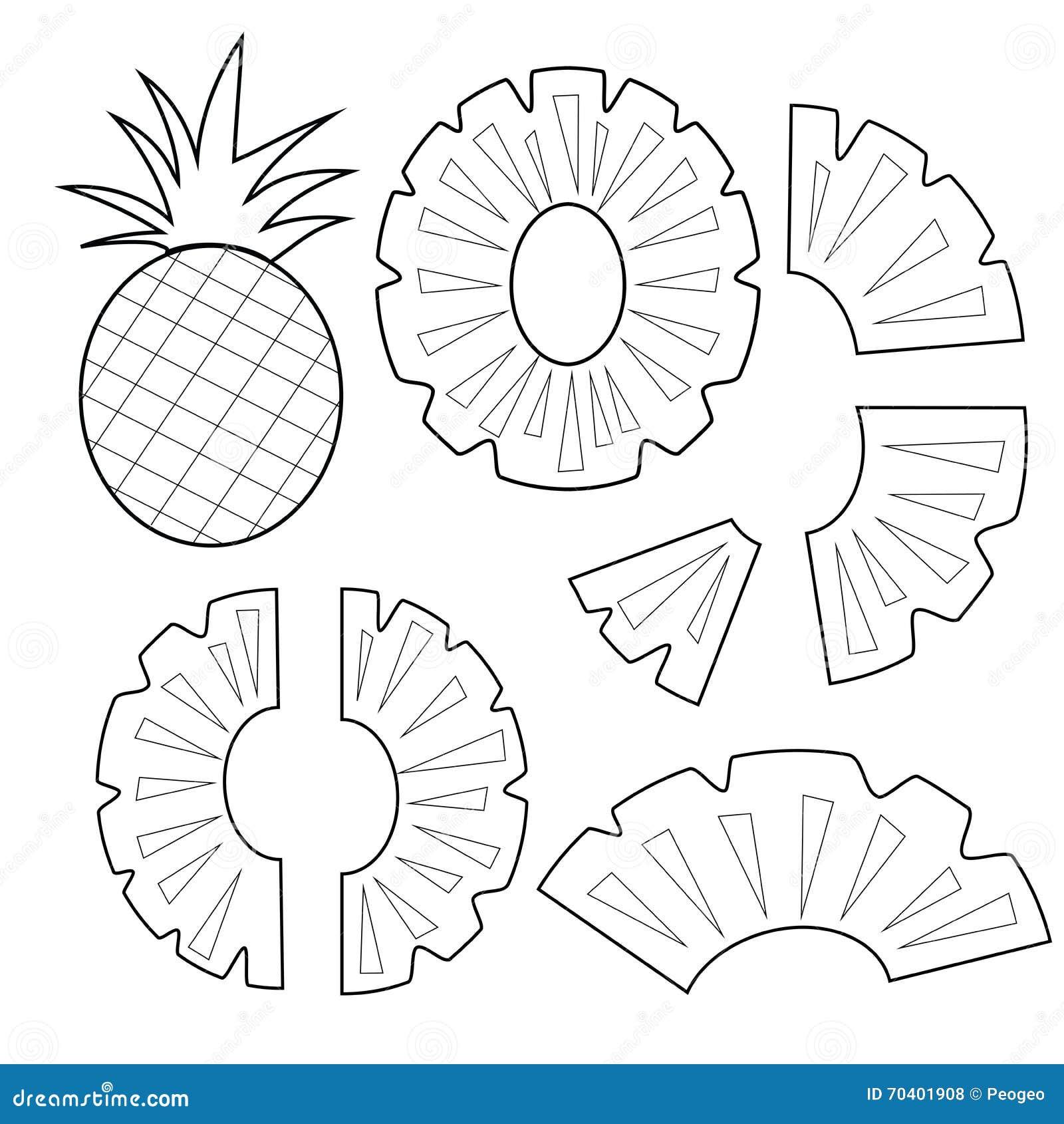 Versione Del Profilo Della Frutta Dell Ananas Per Il Vettore Del
