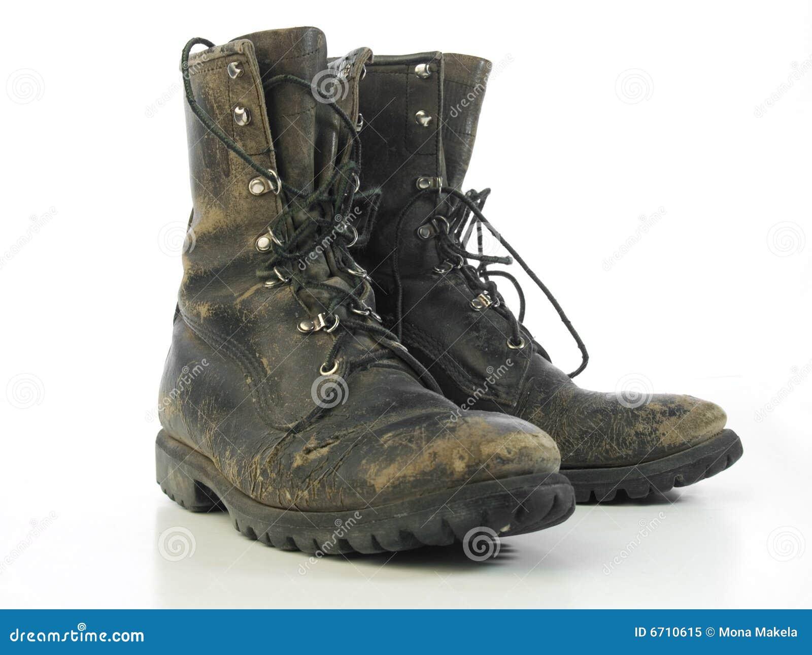 Versleten oude laarzen