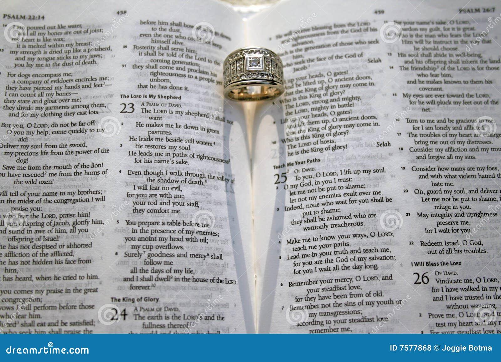 Salmo Matrimonio Biblia : Verso de la biblia del salmo foto archivo imagen