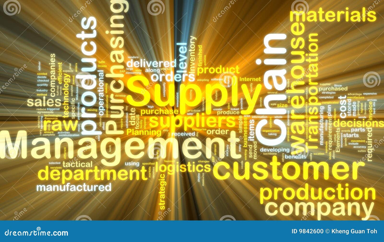 Versorgungskettemanagement wordcloud Glühen