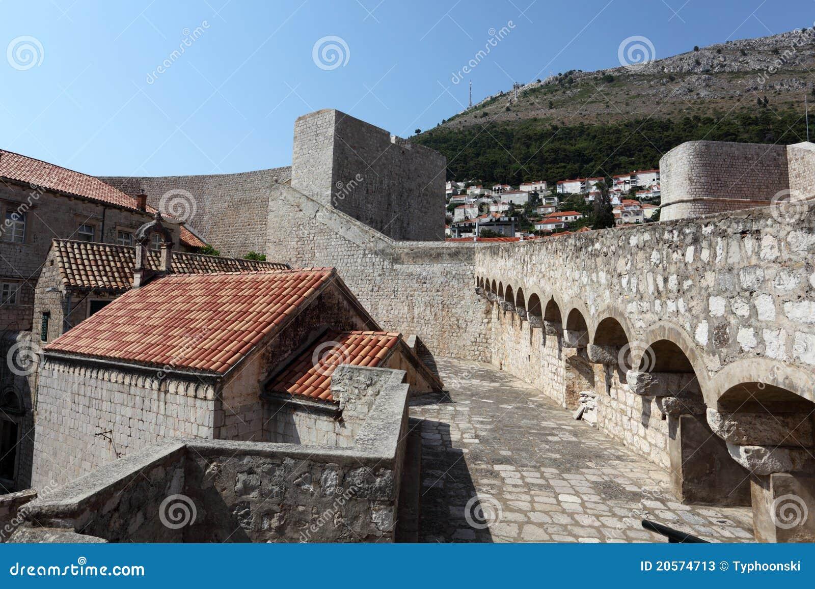 Verstärkte Wand von Dubrovnik
