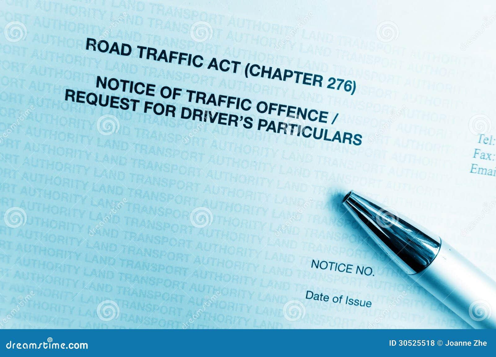 Verstoß gegen die Straßenverkehrsordnungs-Mitteilungsbuchstabe
