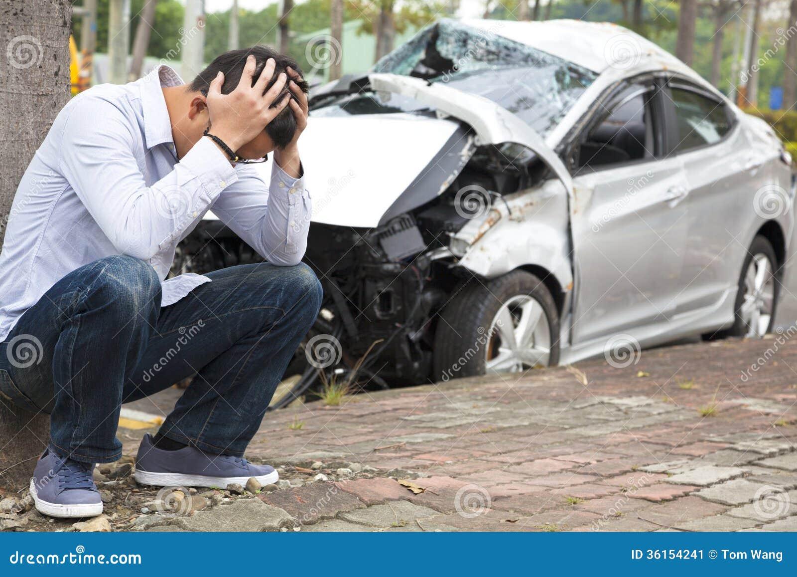 Verstoorde bestuurder After Traffic Accident