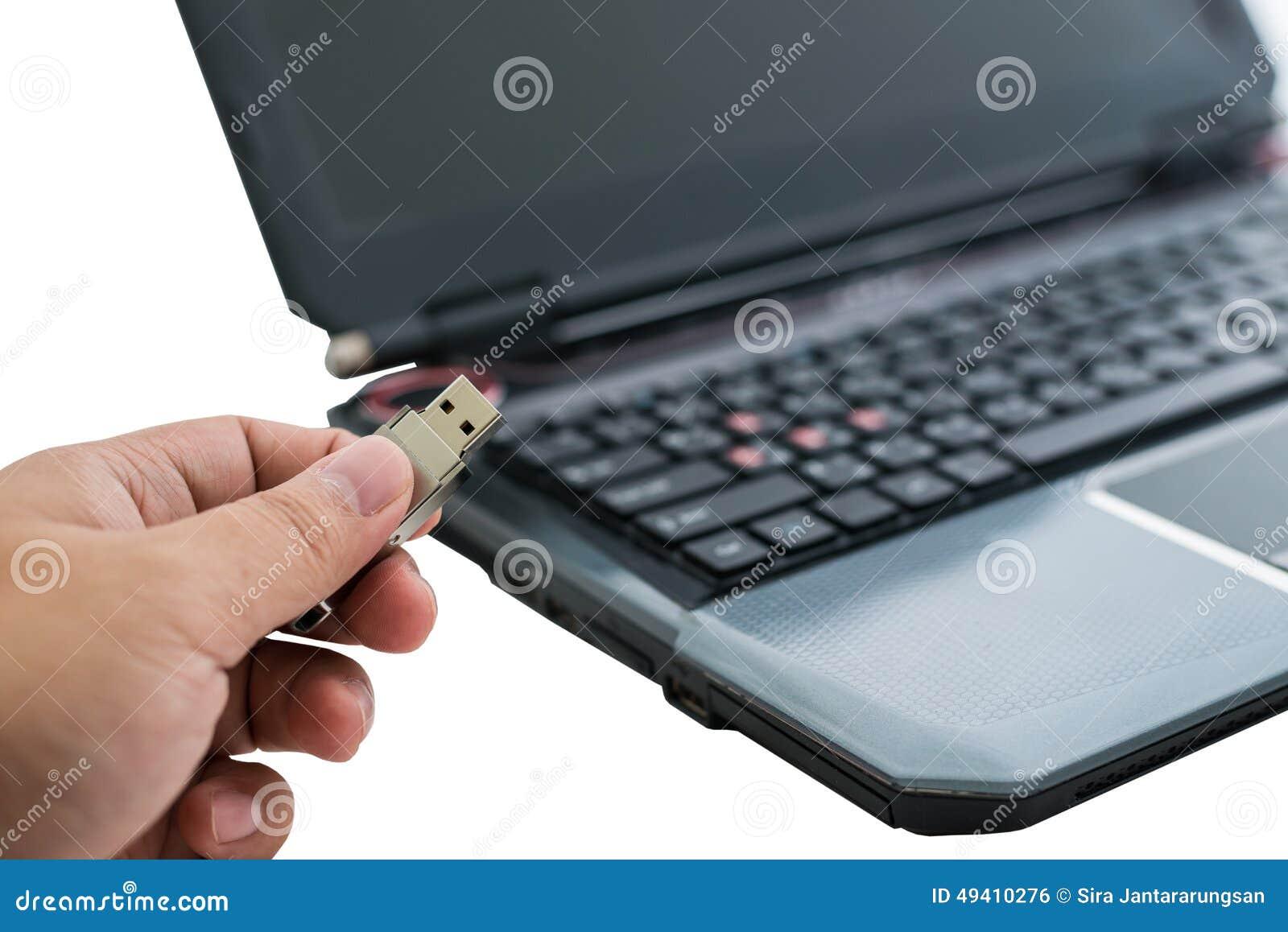 Download Verstopfung Des Entfernbaren Grellen Plattenspeichers In Laptop Stockfoto - Bild von hardware, finger: 49410276