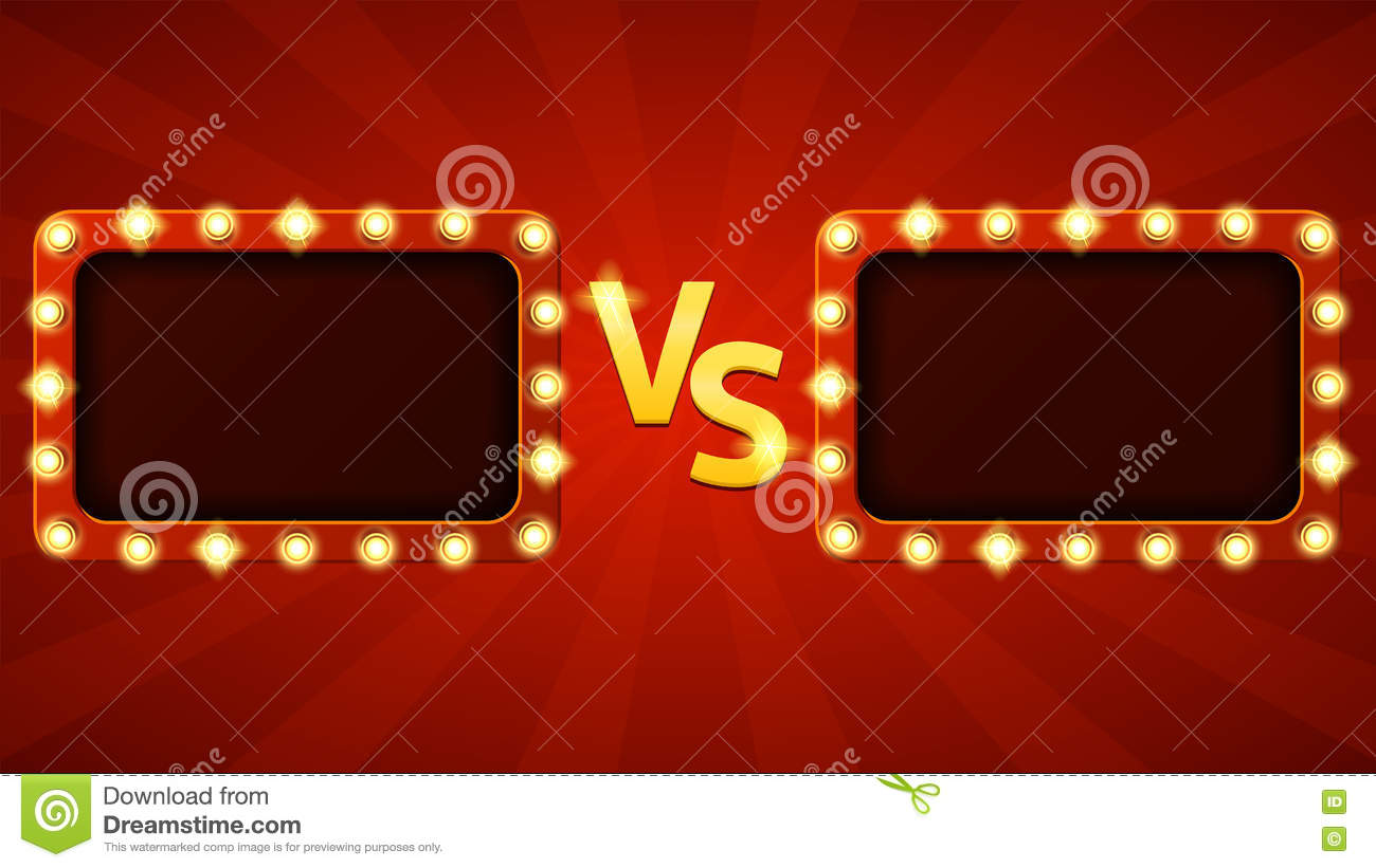 Background image vs background - Versus Letters Fight Background Stock Vector